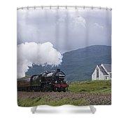 The Jacobite Express At Lochailort Church Shower Curtain