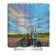 The Journey Of A Farmer Shower Curtain
