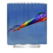The Kaleidoscope Kite Shower Curtain by Rod Johnson