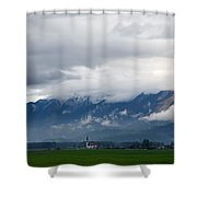 The Kamnik Alps After A Storm Shower Curtain