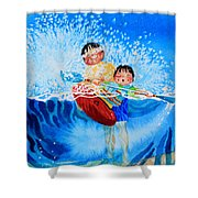 The Kayak Racer 10 Shower Curtain