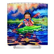The Kayak Racer 11 Shower Curtain