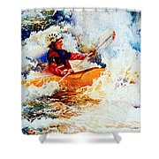 The Kayak Racer 19 Shower Curtain