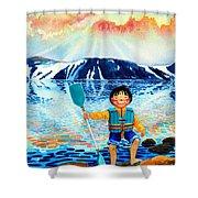 The Kayak Racer 5 Shower Curtain