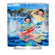 The Kayak Racer 7 Shower Curtain