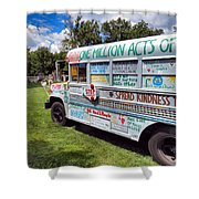The Kindness Bus 1 Shower Curtain