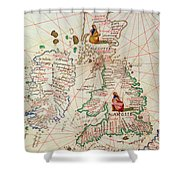 The Kingdoms Of England And Scotland Shower Curtain