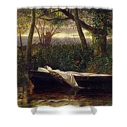 The Lady Of Shalott Shower Curtain by Walter Crane