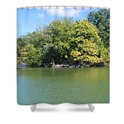 The Lake In Central Park Shower Curtain