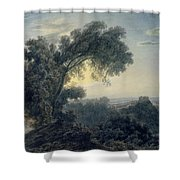 The Lake Of Albano And Castle Gandolfo  Shower Curtain