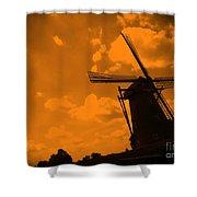 The Land Of Orange Shower Curtain by Carol Groenen