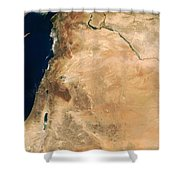The Lands Of Israel Along The Eastern Shower Curtain by Stocktrek Images
