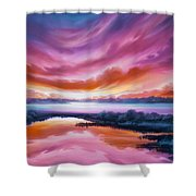 The Last Sunset Shower Curtain