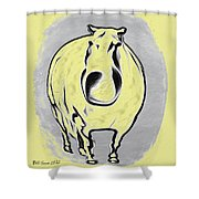 The Legend Of Fat Horse Shower Curtain