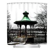 The Lemon Hill Gazebo - Philadelphia Shower Curtain by Bill Cannon