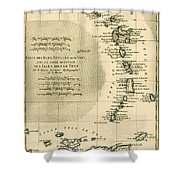 The Lesser Antilles Or The Windward Islands Shower Curtain by Guillaume Raynal