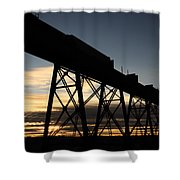 The Lethbridge Bridge Shower Curtain