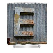 The Letter E Shower Curtain