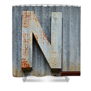 The Letter N Shower Curtain