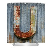 The Letter U Shower Curtain