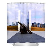 The Liberty State Park 911 Memorial Shower Curtain