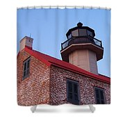 The Light At East Point Shower Curtain