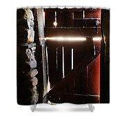 The Light Enters Barn Shower Curtain