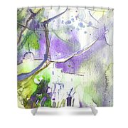 The Light On Planet Goodaboom Shower Curtain