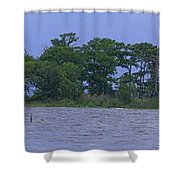 The Lighthouse At Lake Road Shower Curtain