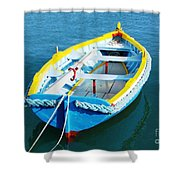 The Little Boat. Shower Curtain