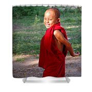 The Little Monk Of Mingun Shower Curtain by RicardMN Photography
