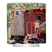 The Little Red Caboose Shower Curtain