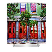 The Locked Bicycle - New Orleans Shower Curtain