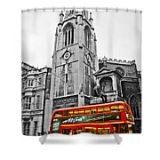 The London Bus Shower Curtain