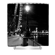 The London Eye At Night Shower Curtain
