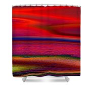 The Lonely Beach Shower Curtain