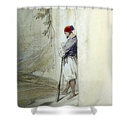 The Lonely Man Shower Curtain