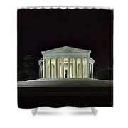 The Lonely Tourist At Jefferson Memorial Shower Curtain