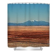 The Long Road To The Meteor Crater In Az Shower Curtain