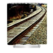 The Long Way Home Shower Curtain by Karen Wiles