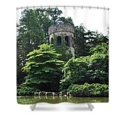 The Longwood Gardens Castle Shower Curtain