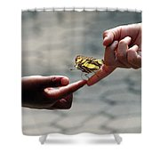 The Lord God Loves Them All Shower Curtain