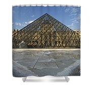 The Louvre Pyramid Paris Shower Curtain