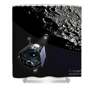 The Lunar Crater Observation Shower Curtain