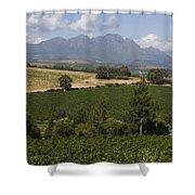 The Lush Garden Landscape Of A Vineyard Shower Curtain