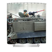 The M113 Tracked Infantry Vehicle Shower Curtain