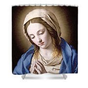The Madonna Praying Shower Curtain