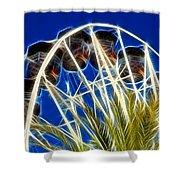 The Magic Ferris Wheel Ride Shower Curtain