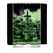 Green Savannah Shower Curtain