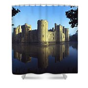 The Majestic Bodiam Castle And Its Shower Curtain